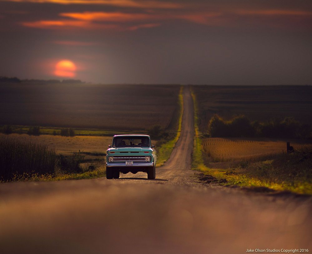 Beautiful old Chevy on dirt road.jpg