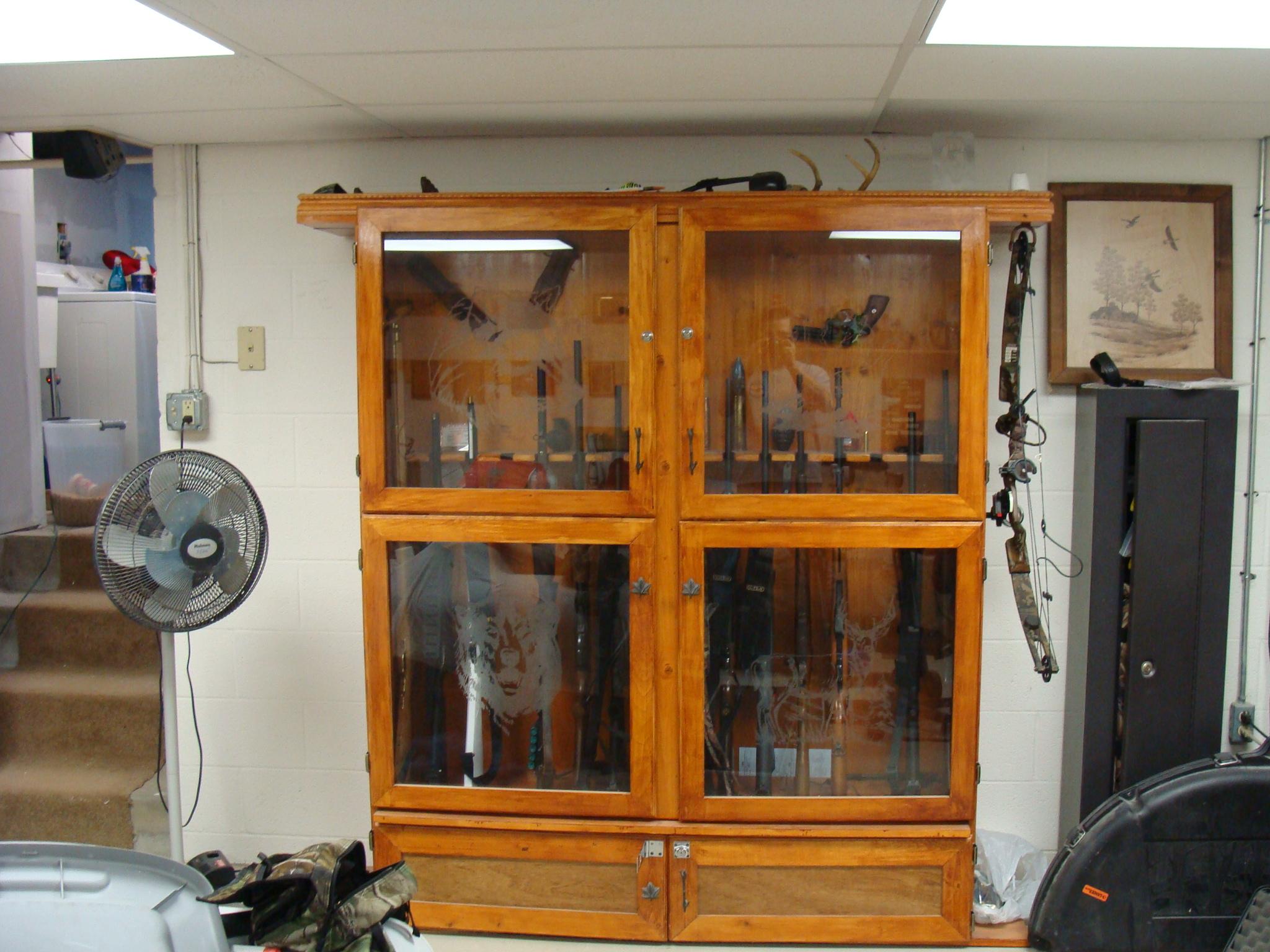 Home Made Gun Cabinets Gun And Game The Friendliest Gun .