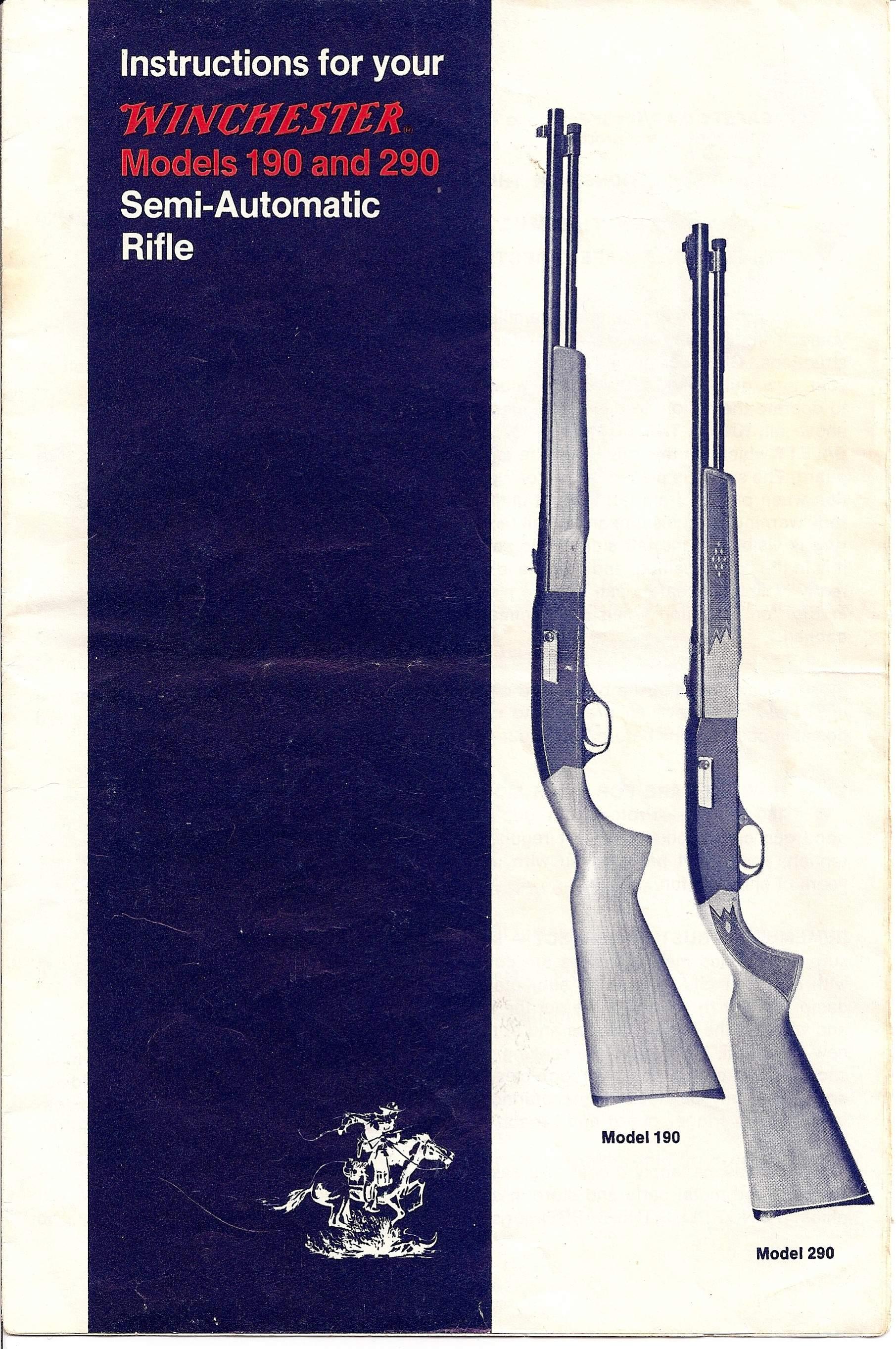 winchester model 190 22 rimfire gun and game the friendliest